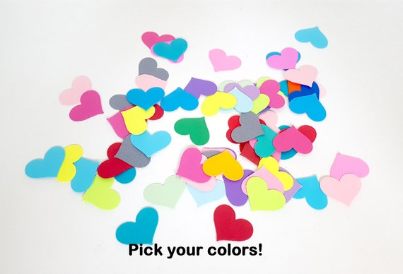 Heart Confetti  Table Scatter   400 Punched 1  2 Kraft Cardstock Hearts
