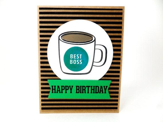 Geburtstagskarte Fur Chef Manager Geburtstag Chef Etsy