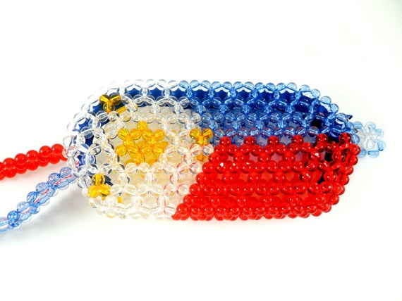 Philippine Flag Design Beaded Coin Purse Made in Philippines Beaded Gifts for Her Filipino Beaded Art Women/'s Accessories Beaded Wallet