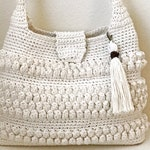 Crochet Bag with Tassel Pattern - Easy Crochet Purse  - Crochet Handbag - Crochet Tote - CROCHET PATTERN-Crochet Patterns by Deborah O'Leary