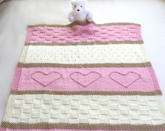 picture regarding Free Printable Knitting Patterns for Baby Blankets referred to as Youngster blanket routine Etsy