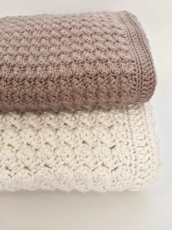 Crochet Baby Blanket Pattern Chunky Crochet Baby Blanket Etsy Interesting Baby Blanket Pattern
