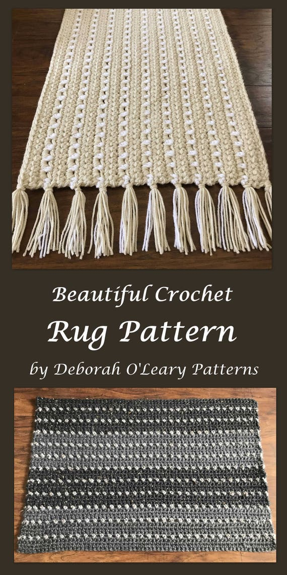 Crochet Rug And Placemat Pattern Easy Pattern Bulky Yarn Etsy