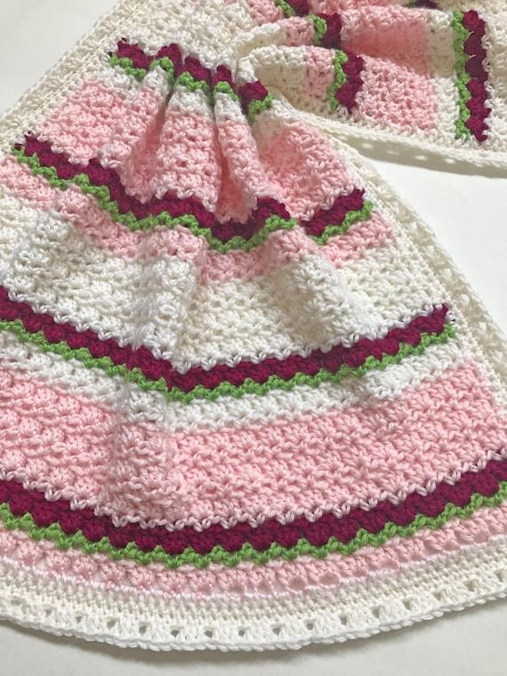 Crochet Baby Blanket Pattern Striped Baby Blanket Pattern Etsy