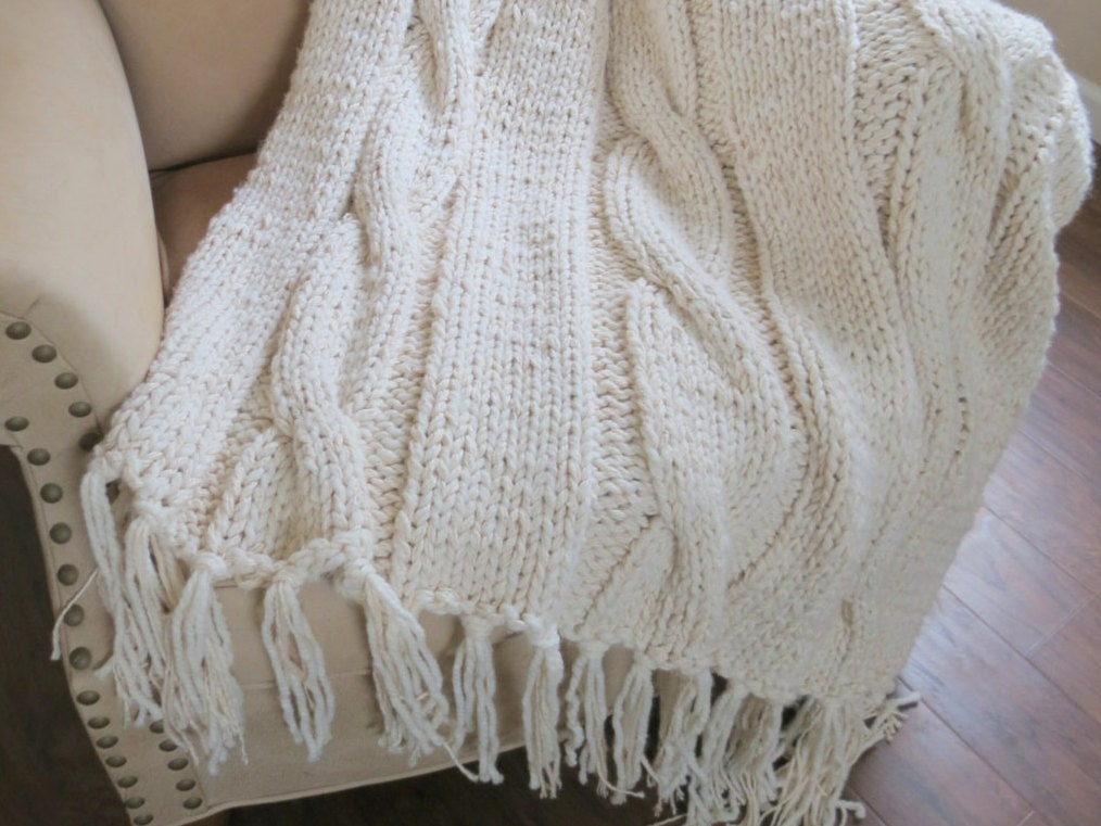 Knit Blanket Pattern Chunky Blanket Pattern Super Bulky Knit | Etsy