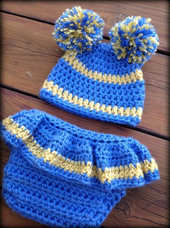 Crochet Newborn Diaper Cover And Hat Pattern Football Cheer