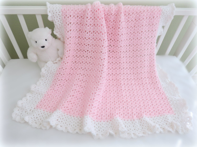 CROCHET PATTERN Crochet Baby Blanket Pattern Cherish Baby   Etsy
