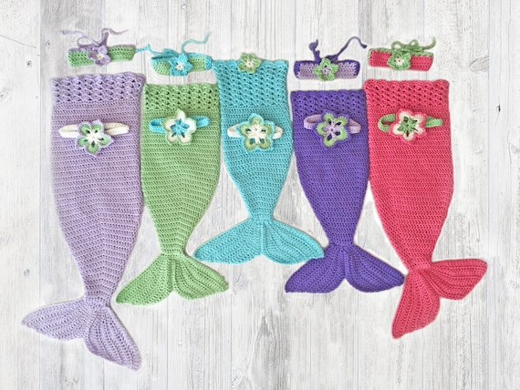 Mermaid Tail Crochet Pattern Newborn To 5t Mermaid Photo Etsy