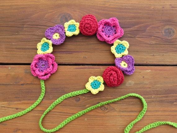Crochet Flower Headband Pattern Festival Boho Baby Crochet Headband ... dd2fce90a85