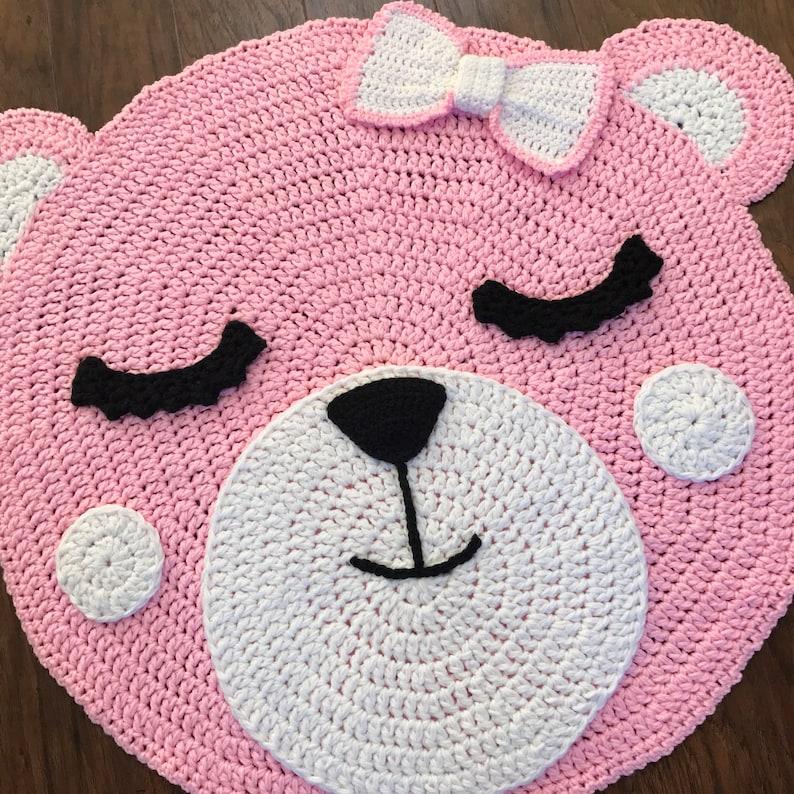 Crochet Rug Pattern Crochet Bear Rug Nursery Rug Pattern Etsy