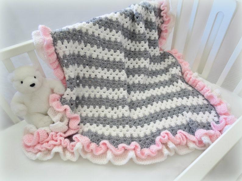 Crochet Baby Blanket Pattern Baby Crochet Blanket Afghan Etsy