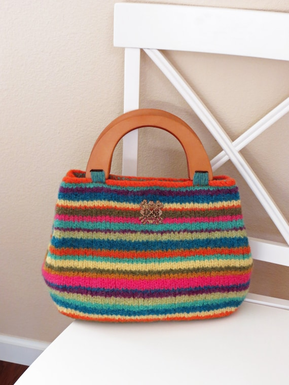 Knit Bag Pattern Felted Purse Pattern Knit Purse Knitting | Etsy