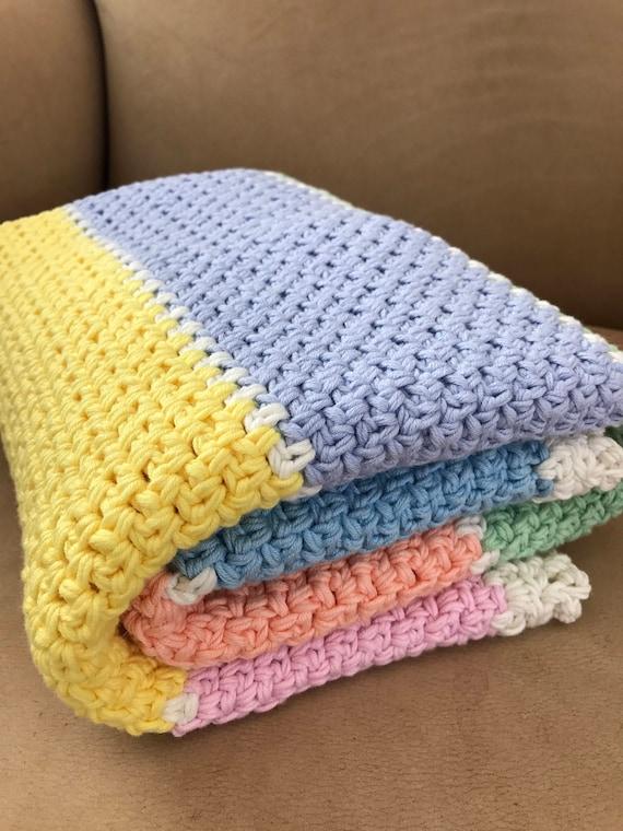 Crochet Baby Blanket Pattern Chunky Crochet Baby Blanket Etsy