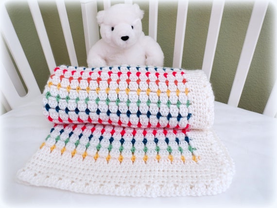 Crochet Baby Blanket Pattern Baby Afghan Pattern Crochet Etsy