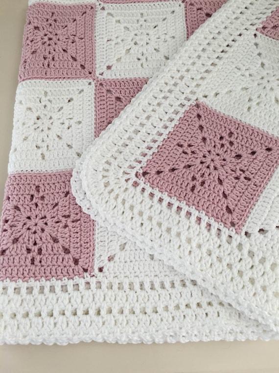 Crochet Blanket Pattern Arielle\'s Square Baby Blanket | Etsy