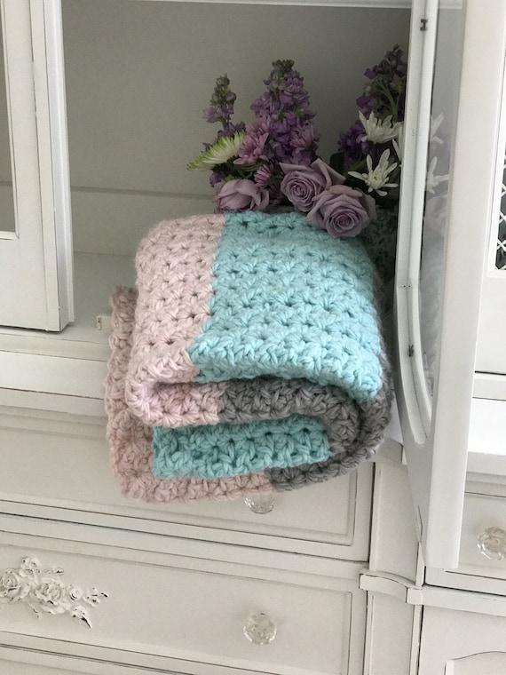 Crochet Baby Blanket Pattern Chunky Love Baby Blanket Etsy
