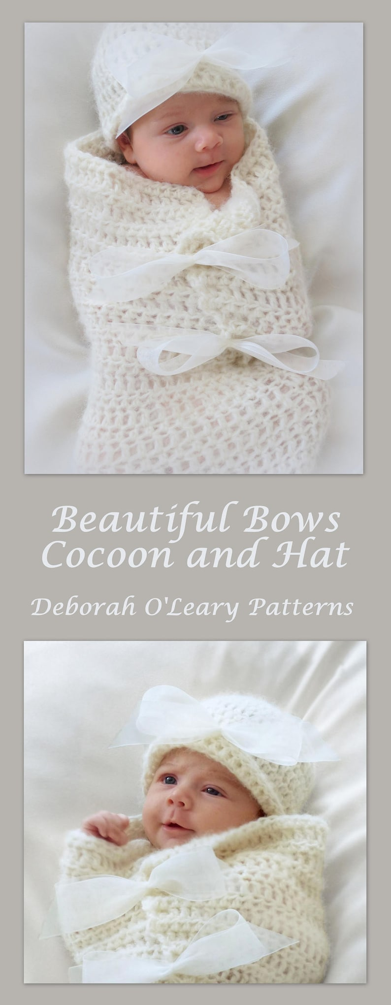 Crochet Baby Cocoon And Hat Pattern Newborn Photo Prop Etsy