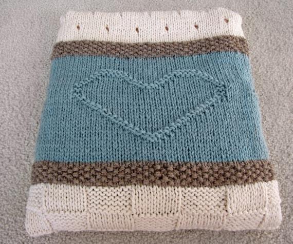 Knit Blanket Pattern Knit Throw Pattern Knit Heart Blanket Etsy