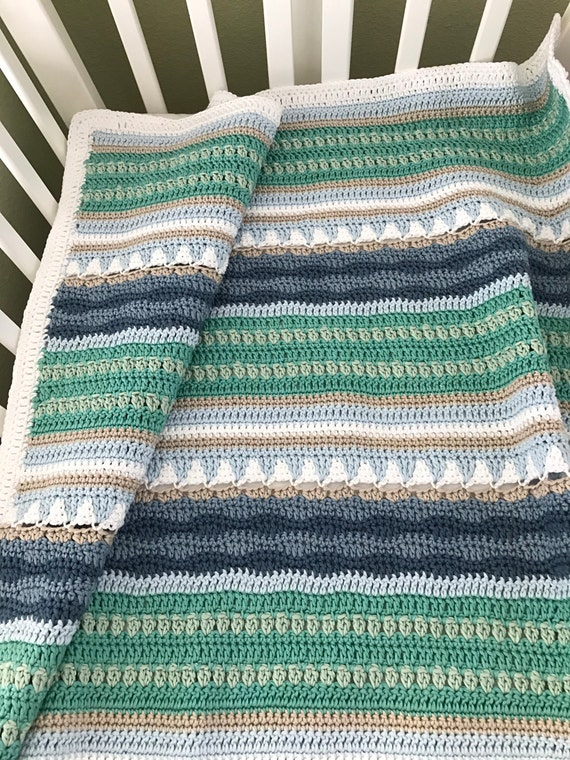 Crochet Baby Blanket Pattern Sailboats Baby Blanket
