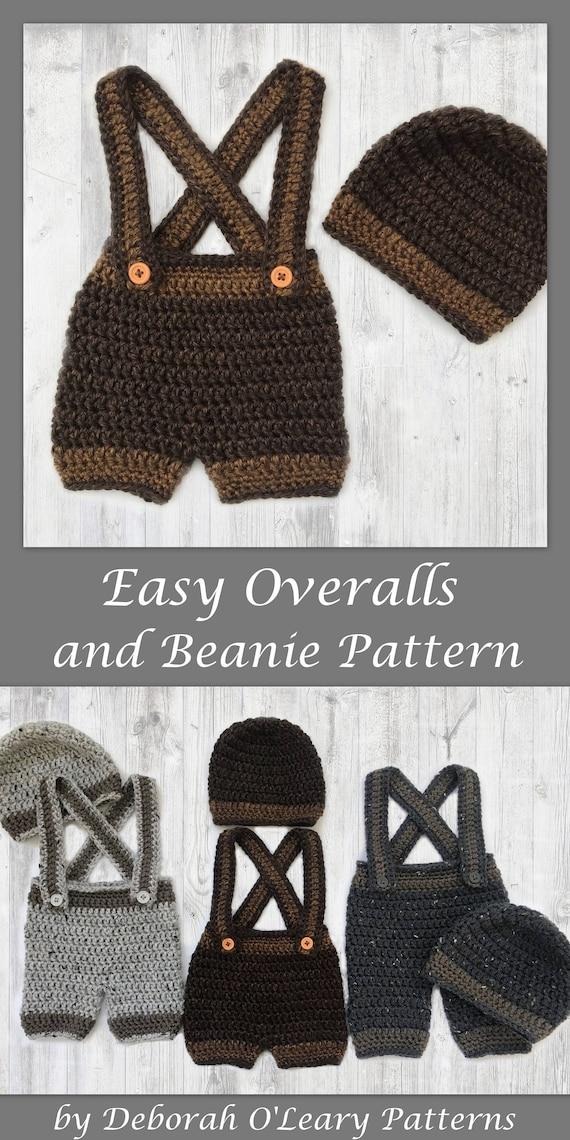 Crochet Baby Beanie And Pants Pattern Pants Shorts Etsy