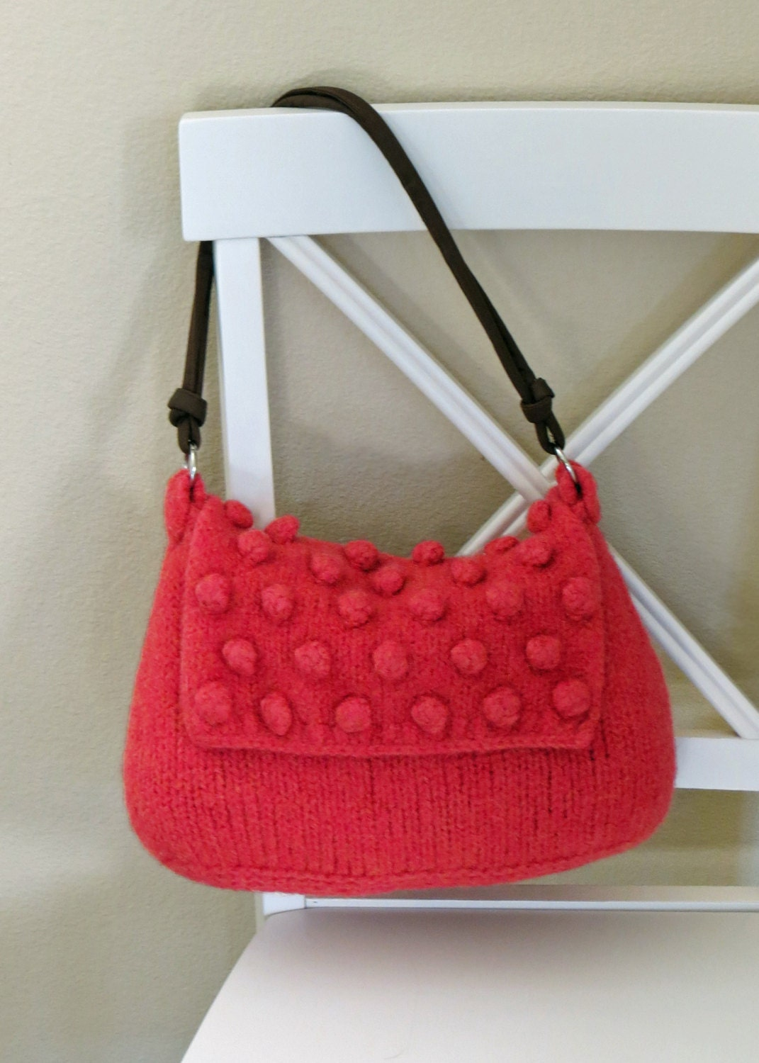 Felted Purse Pattern Knit Bag Pattern Knitted Purse | Etsy