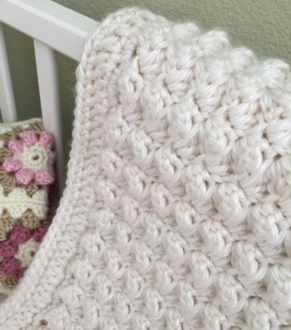 Chunky Crochet Baby Blanket Crochet Baby Blanket Pattern Etsy