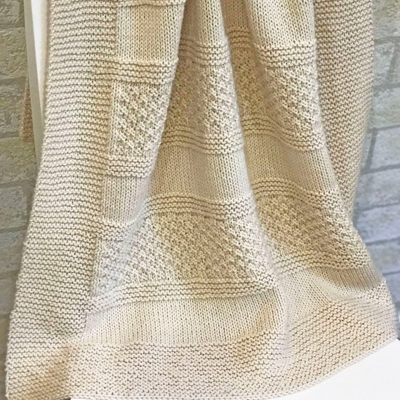Knit Baby Blanket Pattern Brighten Blanket Easy Pattern Etsy