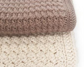 Crochet Baby Blanket Pattern - Chunky Crochet Blanket - Easy Pattern by Deborah O'Leary Patterns
