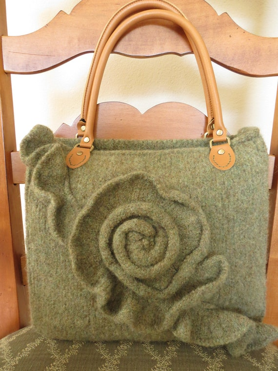 Knit and Felted Purse Pattern Knit Bag Pattern Knit Tote | Etsy