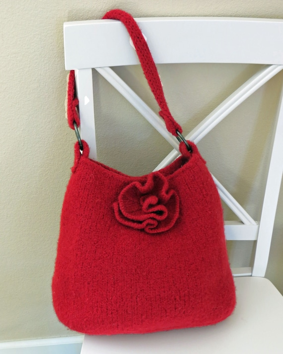 Knit Bag Pattern Felted Purse Pattern Knit Purse Knitting Etsy