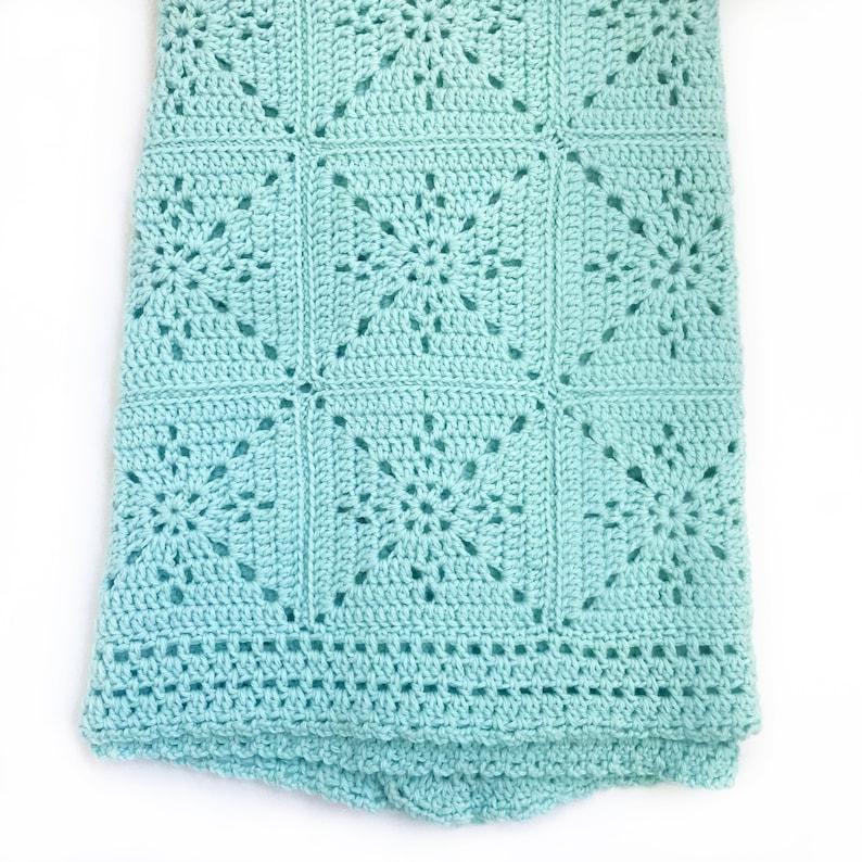 Crochet Blanket Pattern Arielles Square Baby Blanket Etsy