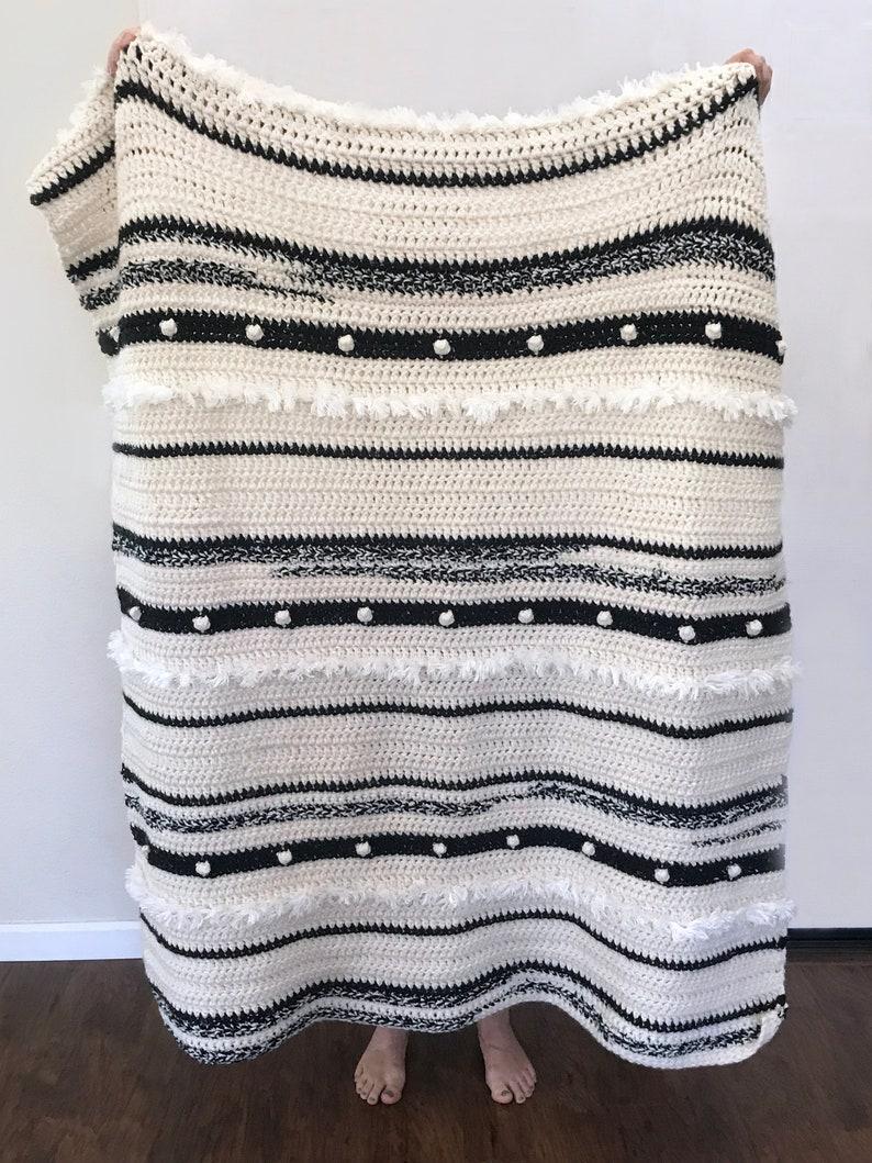 Crochet Blanket Throw Pattern Anthropology Blanket Easy Etsy
