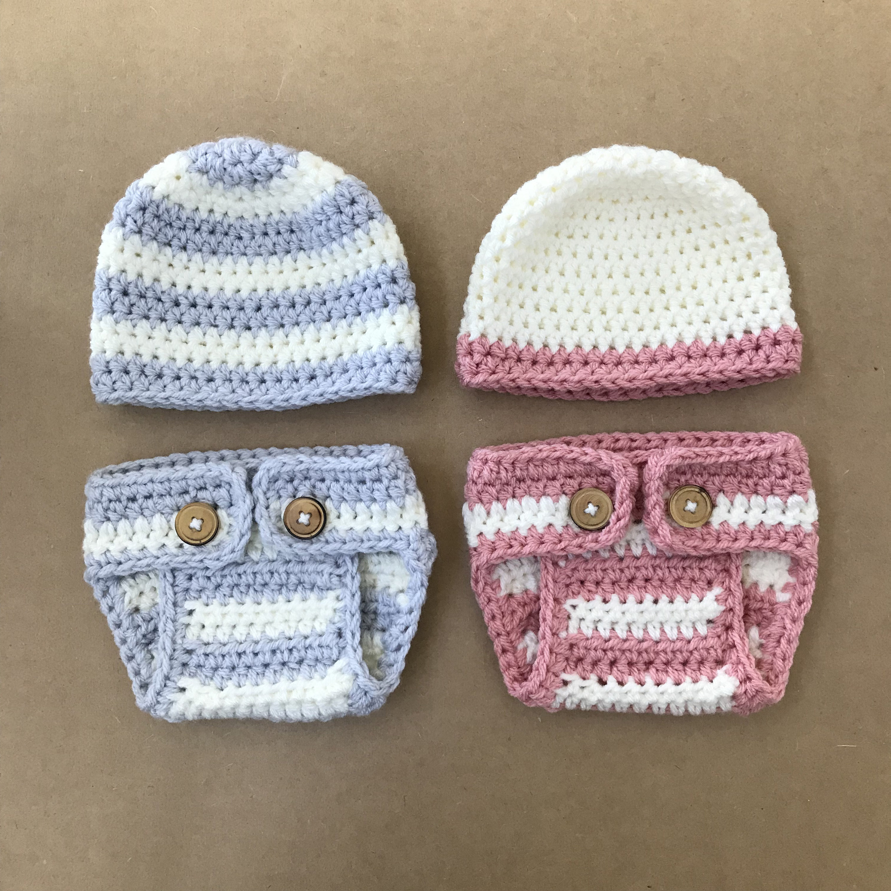 Crochet Diaper Cover And Beanie Pattern Newborn Photo Prop Etsy