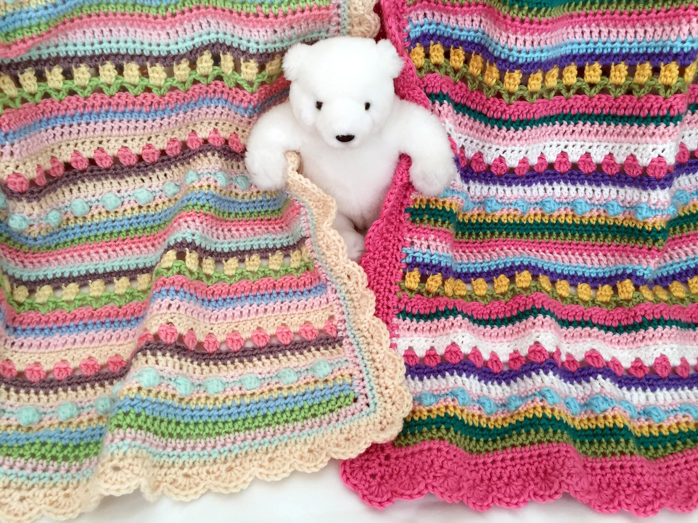 Crochet Baby Blanket Pattern CROCHET PATTERN Confetti by   Etsy