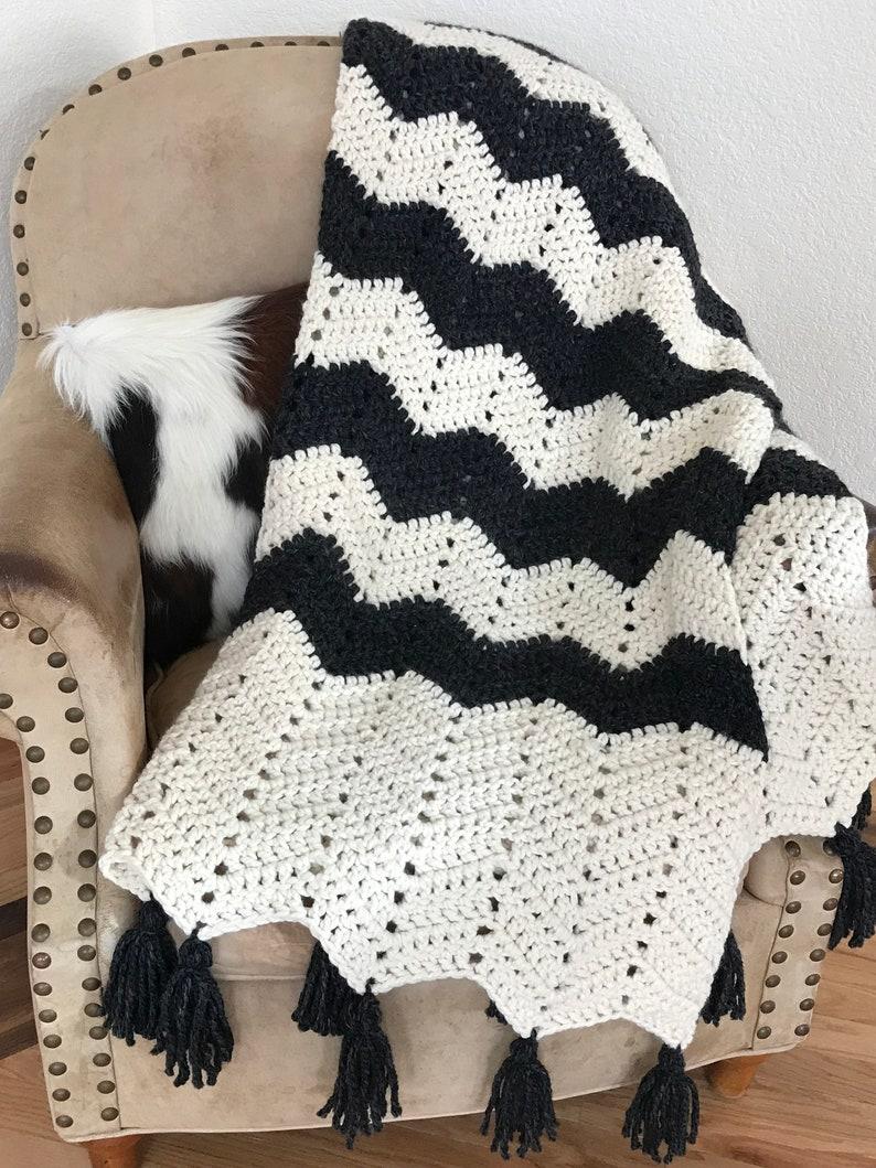 Crochet Blanket Throw Pattern Breckenridge Blanket Etsy