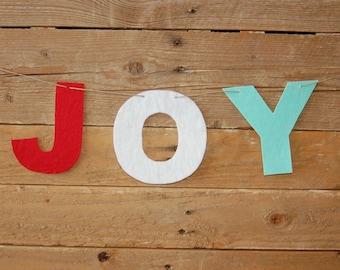 JOY banner {stiffened felt}