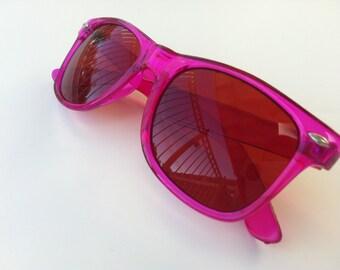 Rave light show glasses - pink lenses