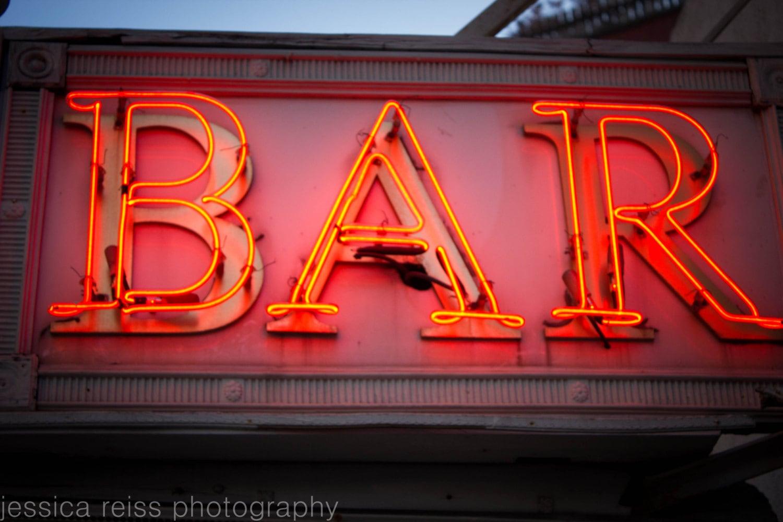 Neon Bar Sign Photograph Bar Decor Vintage Rustic