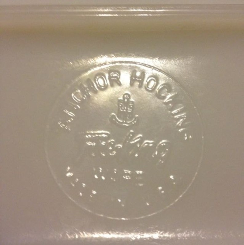 Anchor Hocking Fire King Ware USA Opaque Milk Glass Grape Vine Planter Dish
