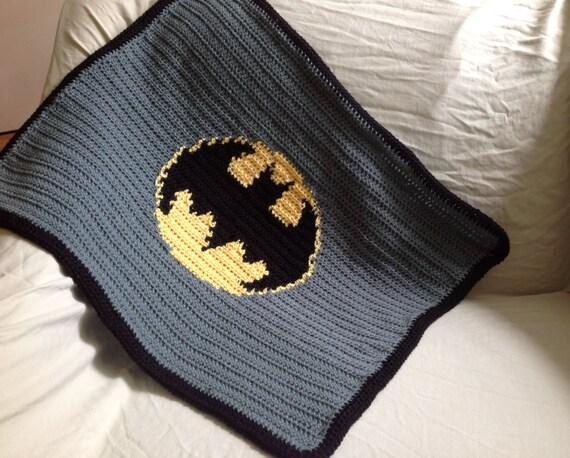 Handarbeit Häkeln Batman Baby Kinderwagen Decke Etsy