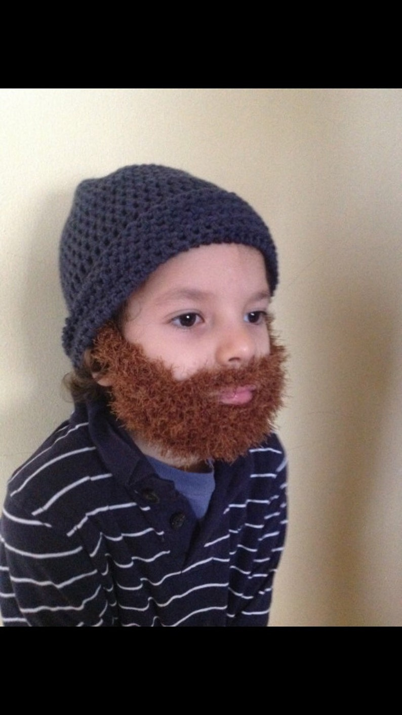 b14766ec575 Handmade Crochet Beard hat PATTERN Toturial pdf file Irish