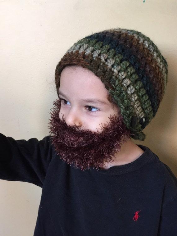 Handarbeit häkeln Bart Mütze Bart Beanie. Gemischte Farben | Etsy