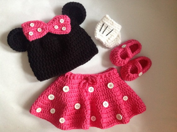 Minnie Mouse Pattern In Pdf Tutorial File Crochet Minnie Etsy