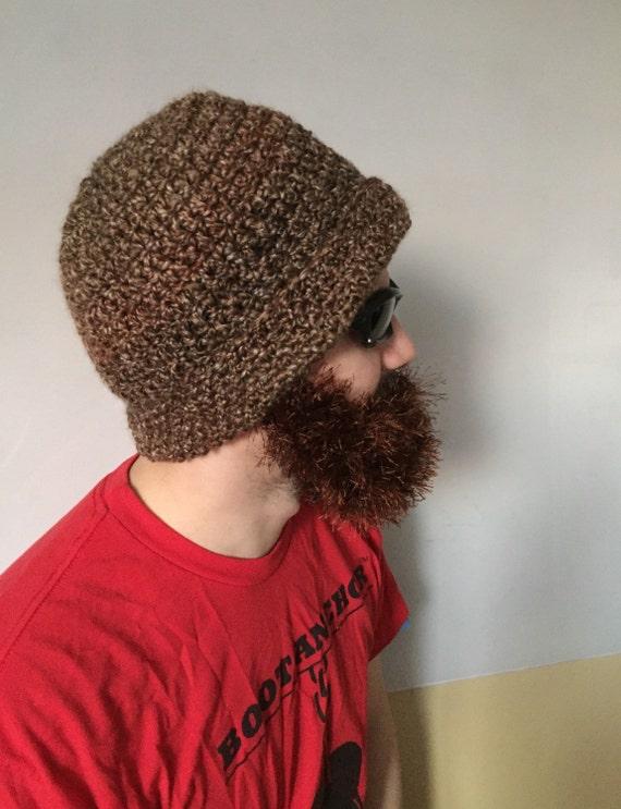 Handarbeit häkeln Bart Hut in dunklen wildem Farben Hut mit   Etsy
