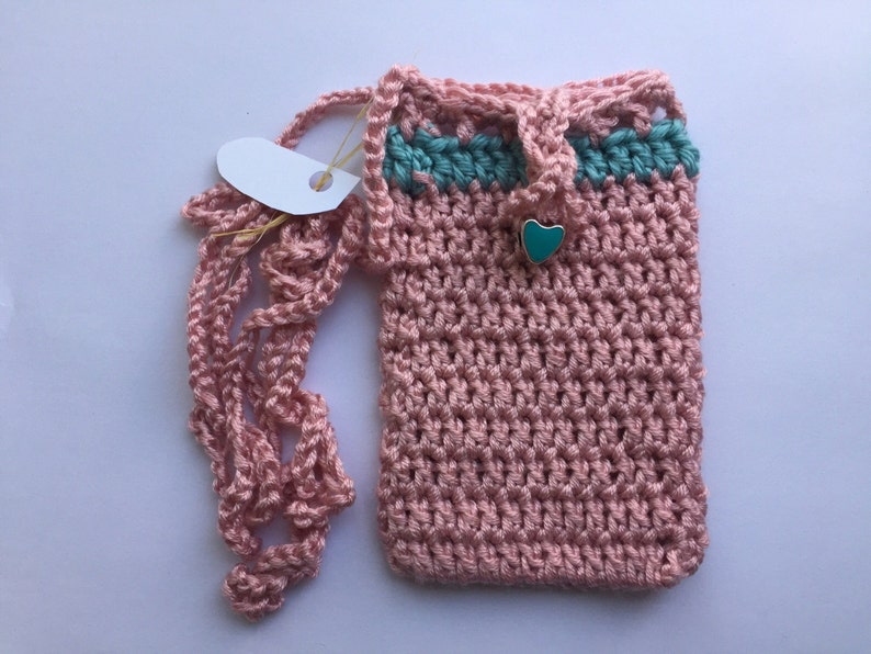 purse Crochet Sokie Dokie Cell Phone Pouch pouch small bag cellphone bag cellphone purse iPhone pouch and samsung/'s phones bag