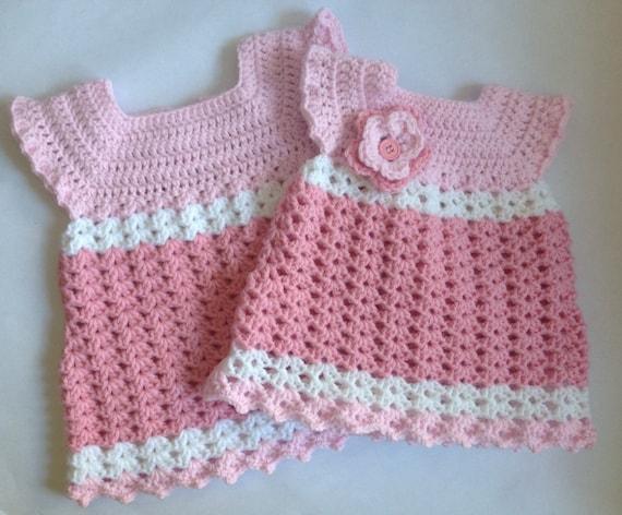 Crochet Baby Girl Dress With Headband Pdf Pattern Tutorial Etsy