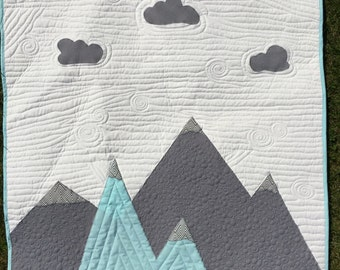 mountain quilt etsy