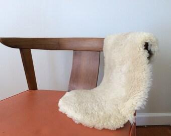 Vintage Sheepskin Small Rug or Mat