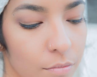 Silver Nose Ring Etsy