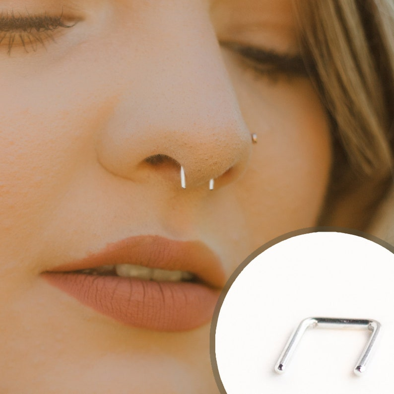 Nose septum piercing ringNose piercing jewelrySimple hoop nose jewelryDainty piercing ringminimalist handmade simple nose septum ring
